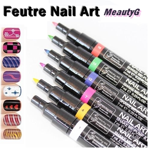feutre nail art meautyg dessin sur ongles boutique miniboutic. Black Bedroom Furniture Sets. Home Design Ideas