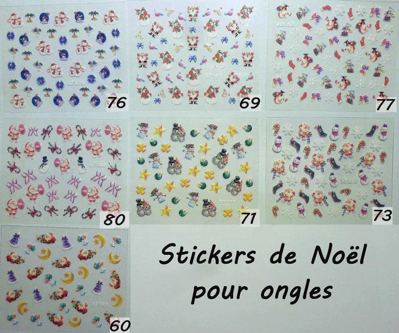 feuilles de stickers de no l pour ongles boutique. Black Bedroom Furniture Sets. Home Design Ideas